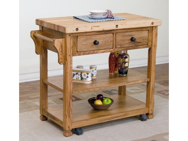 Sedona Butcher Block Cart 2178RO