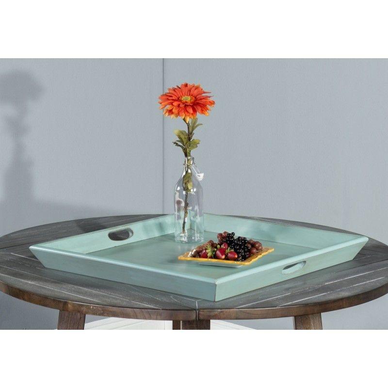 Sunny Designs Robinu0027s Egg Blue Ottoman Tray 2195RE