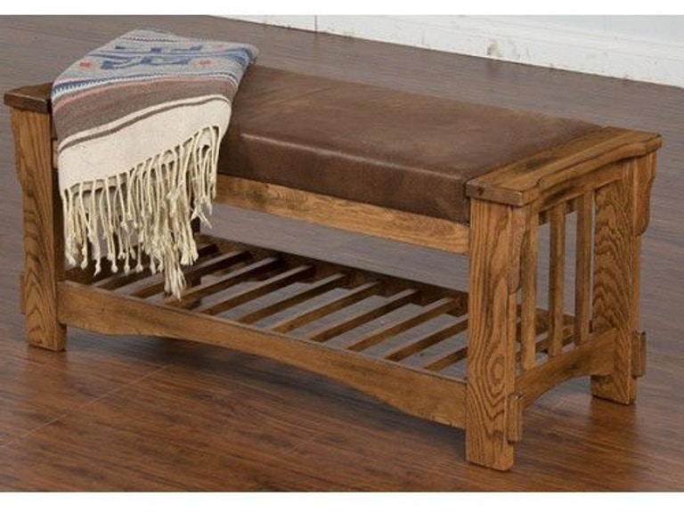 Sunny Designs Living Room Sedona Bench With Cushion Seat 2237RO ...