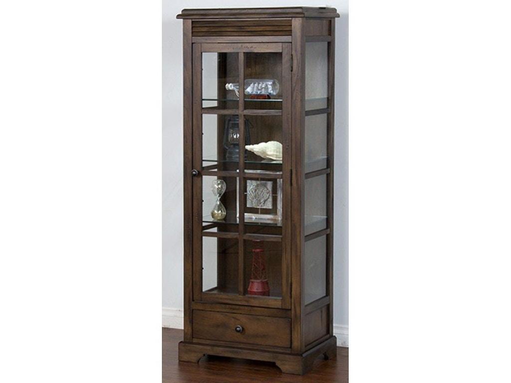 Sunny Designs Living Room Savannah Curio Cabinet 2253ac Simply Discount Furniture Santa