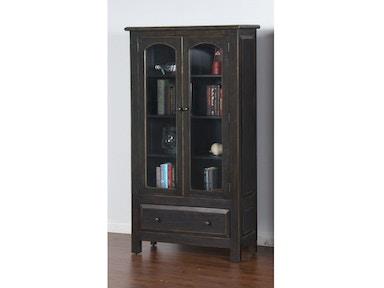 2271b Dc2 Black 2 Door Display Cabinet