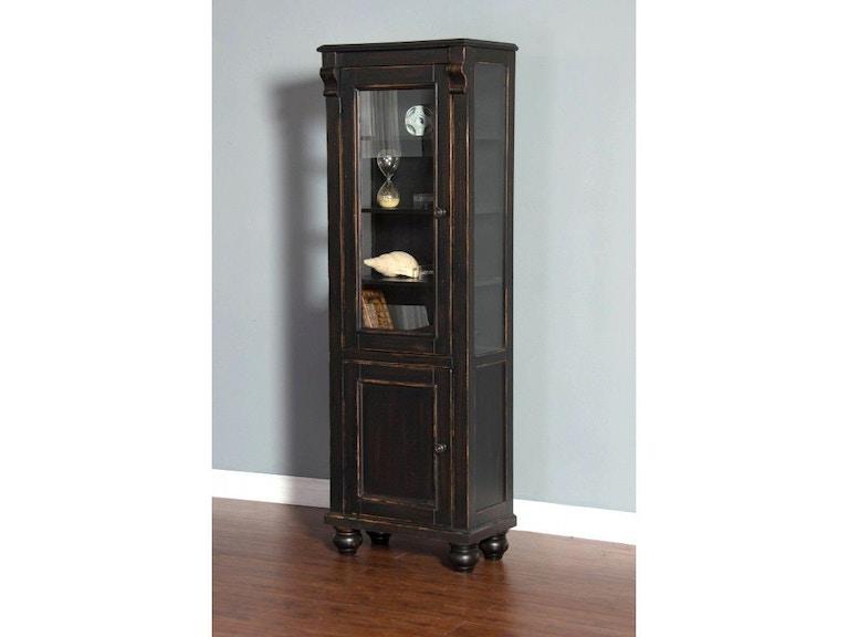 Sunny Designs Living Room Black Display Cabinet 2273B-DC ...