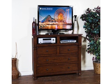 Santa Fe 4 Drawer Media Chest