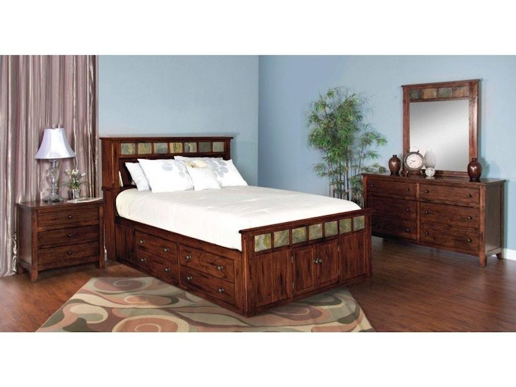 Sunny Designs Bedroom Santa Fe Queen Storage Bed 2334DC-SQ ...