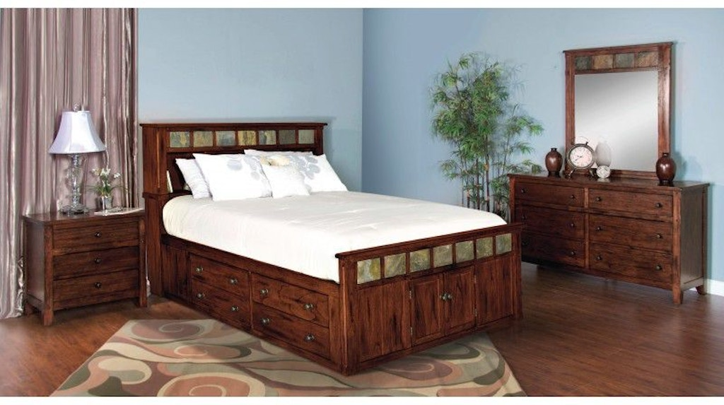 Sunny Designs Bedroom Santa Fe Queen Storage Bed 48DCSQ Inspiration Sunny Designs Bedroom Furniture