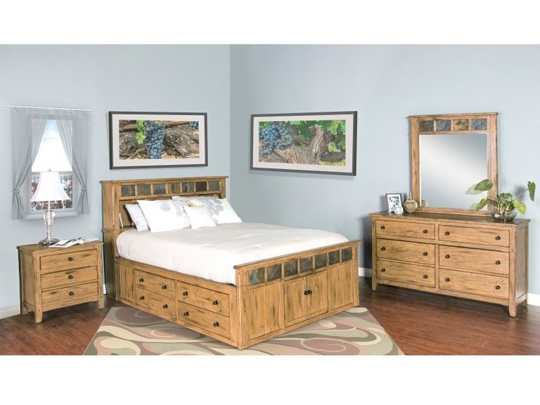 Sunny Designs Bedroom Sedona Queen Storage Bed 48ROSQ Unique Sunny Designs Bedroom Furniture