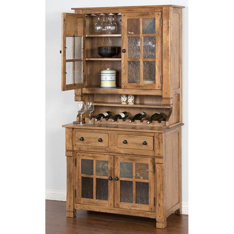 194 & Sunny Designs Dining Room Hutch Buffet 2pc/Set 2412RO - Bennington ...