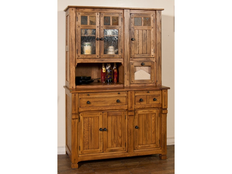 Sunny Designs Sedona Hutch Buffet 2416RO BASE HUTCH TOP