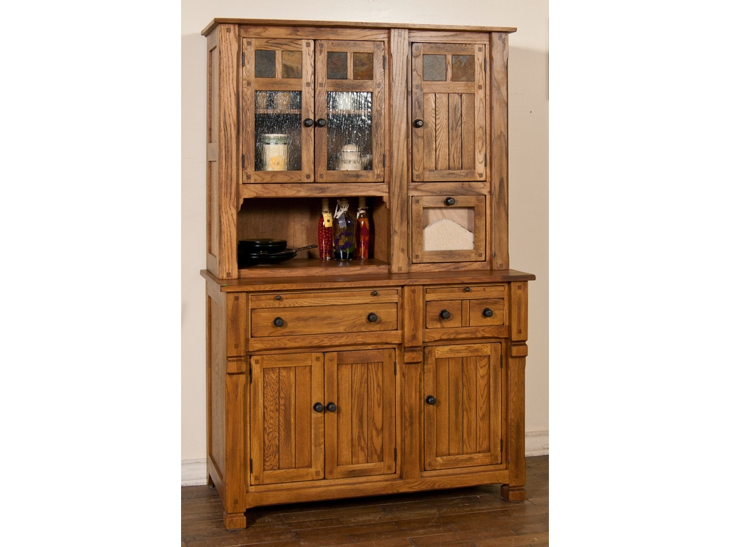 Sunny Designs Dining Room Sedona Hutch Buffet 2416ro Seaside Furniture Toms River Brick And