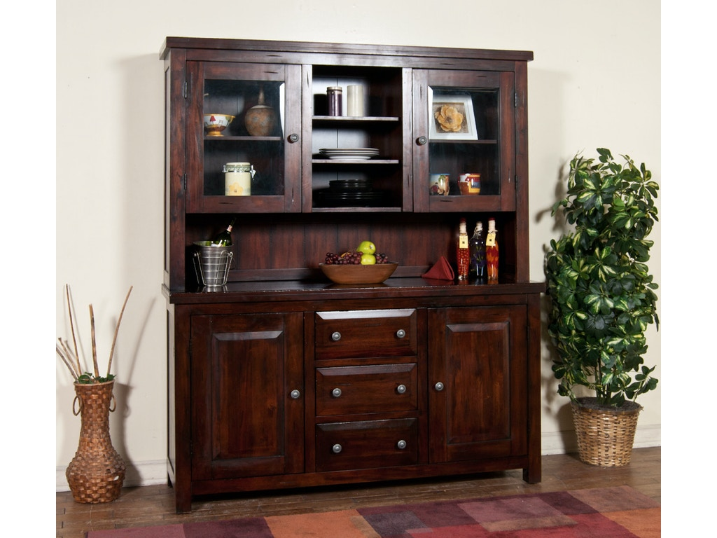 Sunny Designs Dining Room Vineyard Buffet And Hutch 2428RM
