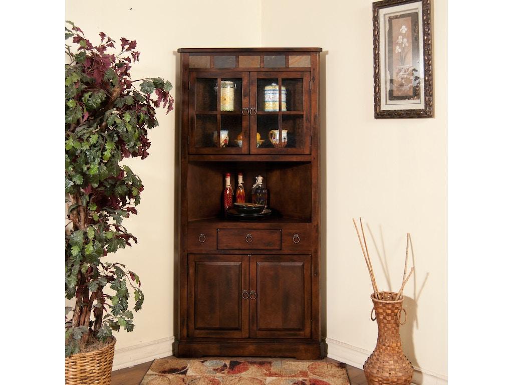 Living Dining Room Cabinets: Sunny Designs Living Room Santa Fe Corner China Cabinet
