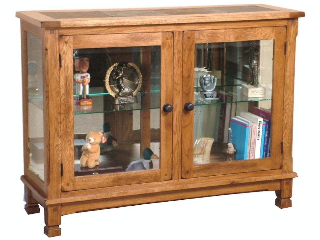 Sunny Designs Living Room Sedona Console Curio 2503ro Bennington Furniture Bennington Vt