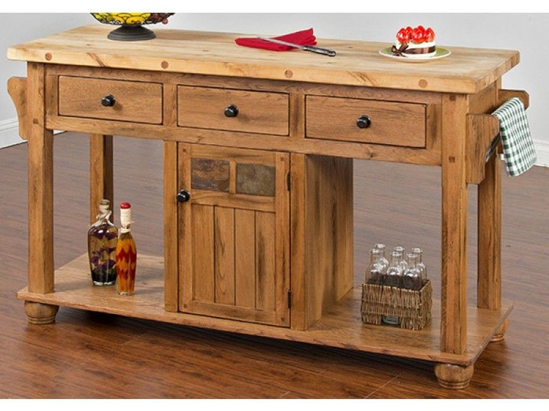 Sunny designs sedona kitchen island table wendells furniture sunny designs sedona kitchen island table 2522ro watchthetrailerfo