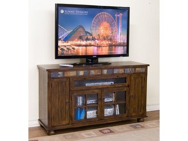 Sunny Designs Santa Fe Counter Height TV Console 2728DC