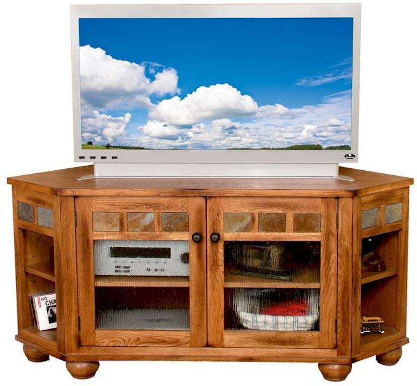 Sunny Designs Home Entertainment Sedona Corner Tv Console 2741ro Tc Bennington Furniture