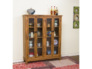 Sunny Designs Sedona 4 Doors Bookcase 2814RO