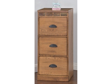 Sunny Designs Sedona 3 Drawers File Cabinet 2863RO-F3