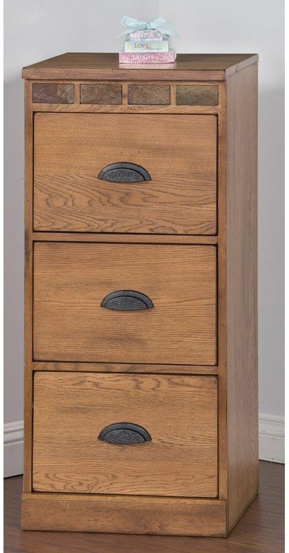 Sunny Designs Home Office Sedona 3 Drawers File Cabinet