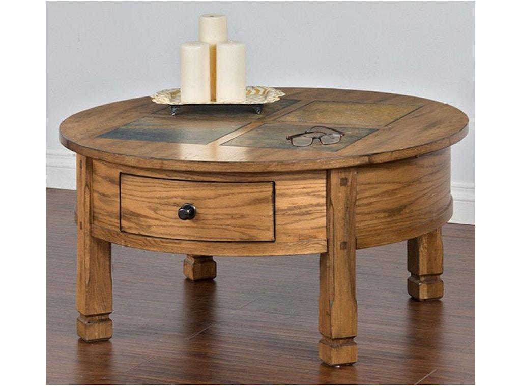 Sunny Designs Living Room Sedona Round Coffee Table 3143ro