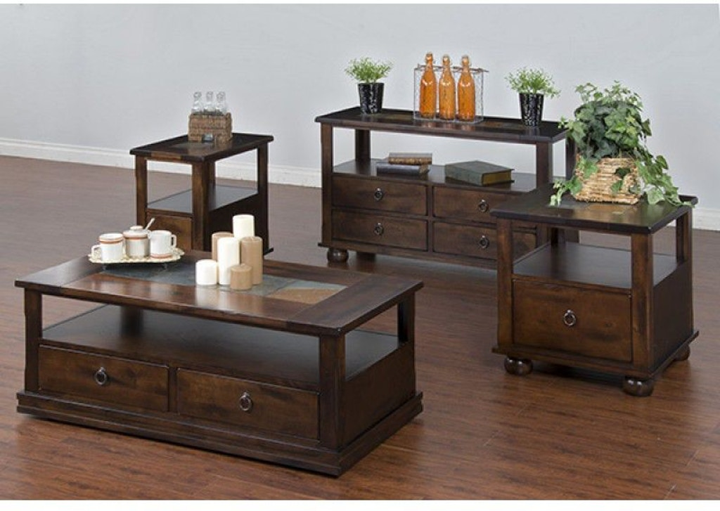 Sunny Designs Living Room Santa Fe Chair Side Table 3164DC ...
