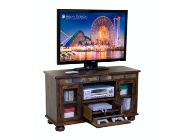 Sunny Designs Oxford TV Console With Game Drawer 3359DO-G