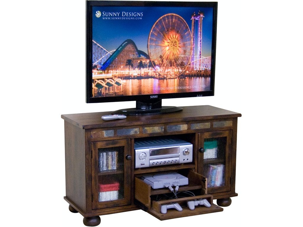 Gave Tv Meubel.Sunny Designs Home Entertainment Oxford Tv Console With Game Drawer