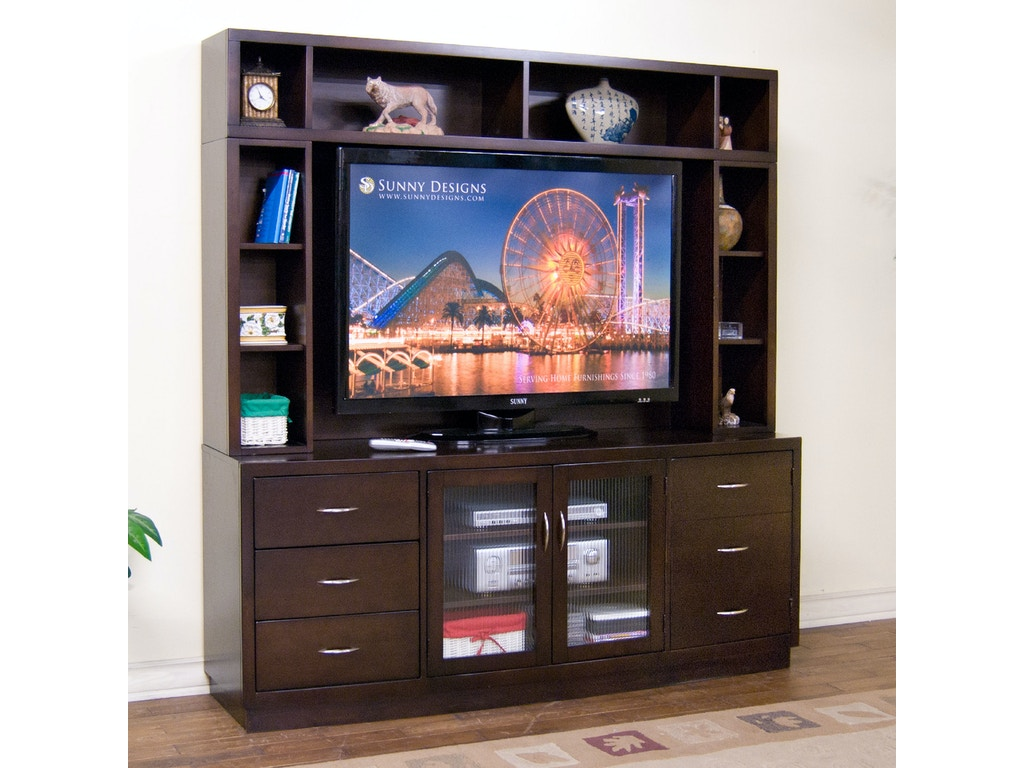 Sunny Designs Home Entertainment Espresso Media Wall 3372e Blockers Furniture Ocala Fl