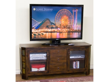 "Sunny Designs Santa Fe 60""W TV Console With Combo Drawer 3416DC-60"