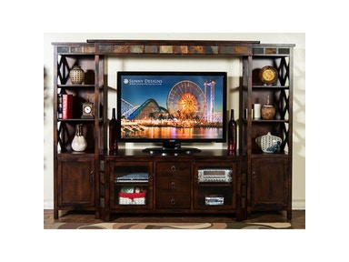 Sunny Designs Santa Fe Entertainment Wall 4pc/Set 3416DC