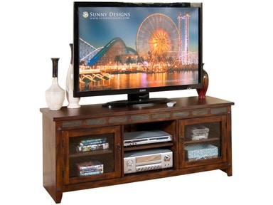 Sunny Designs Santa Fe 62 Inches TV Console, RTA 3436DC-62R