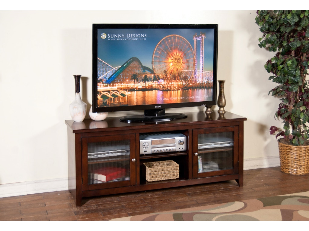 Sunny Designs Home Entertainment Cappuccino 62 Tv Console 3447ca 62r Blockers Furniture