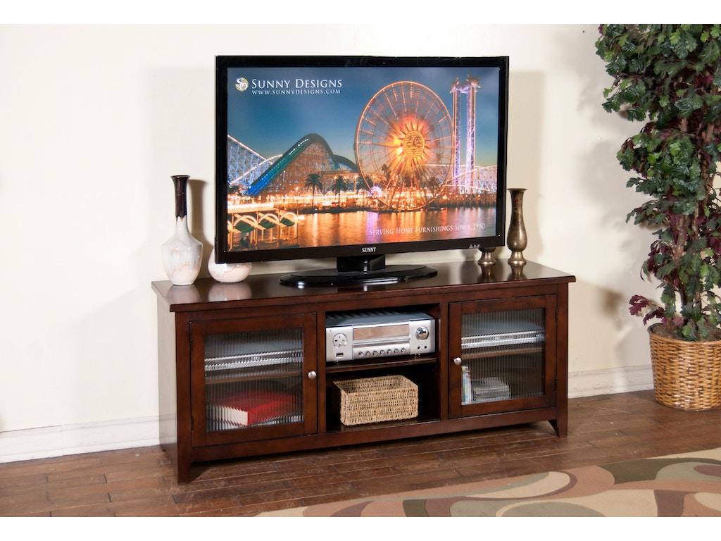 Sunny Designs Home Entertainment Cappuccino 62 Tv Console 3447ca 62r Blockers Furniture