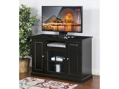 "Sunny Designs Black 48"" TV Console 3474B-48"