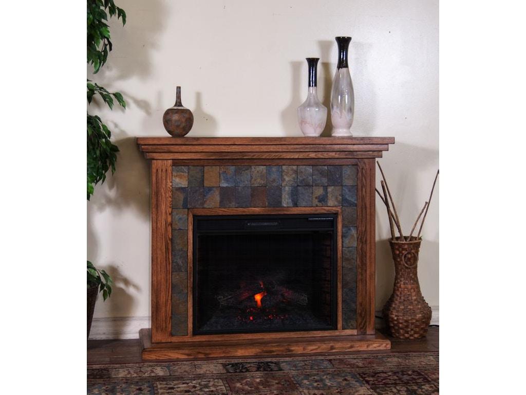 Sunny Designs Dining Room Sedona Fireplace Media Console