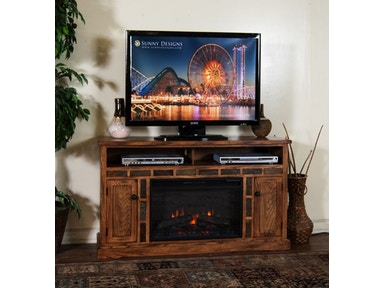 Sunny Designs Sedona Fire Place/TV Console 3490RO/FIRE