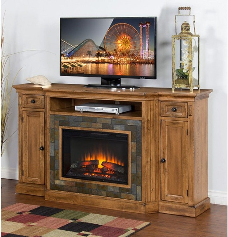 Sensational Sunny Designs Dining Room Sedona Fireplace Tv Console 3551Ro Interior Design Ideas Apansoteloinfo