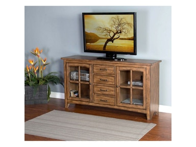 Burnish Mocha Elements TV Console