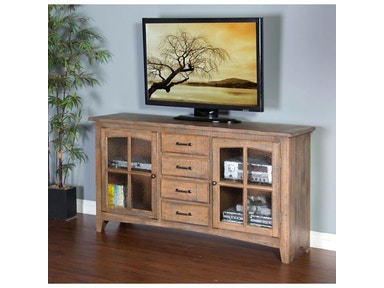 Driftwood Elements 64 inches TV Console