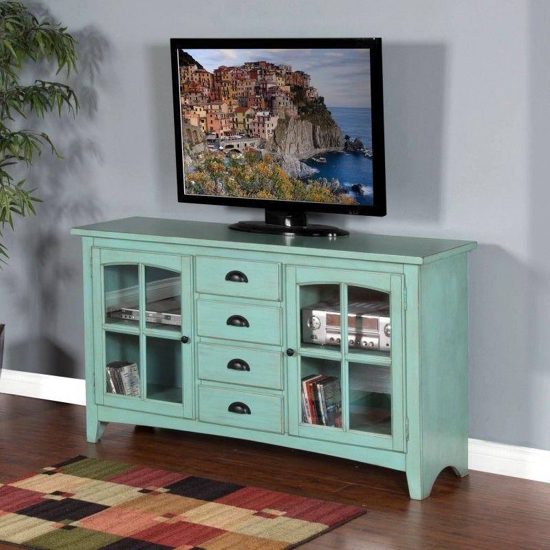 Sunny Designs Robinu0027s Egg Blue Element TV Console 3562RE 64