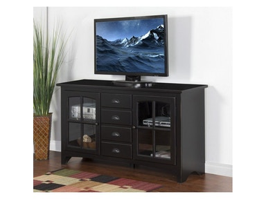 Vintage Black Elements 64 inches TV Console