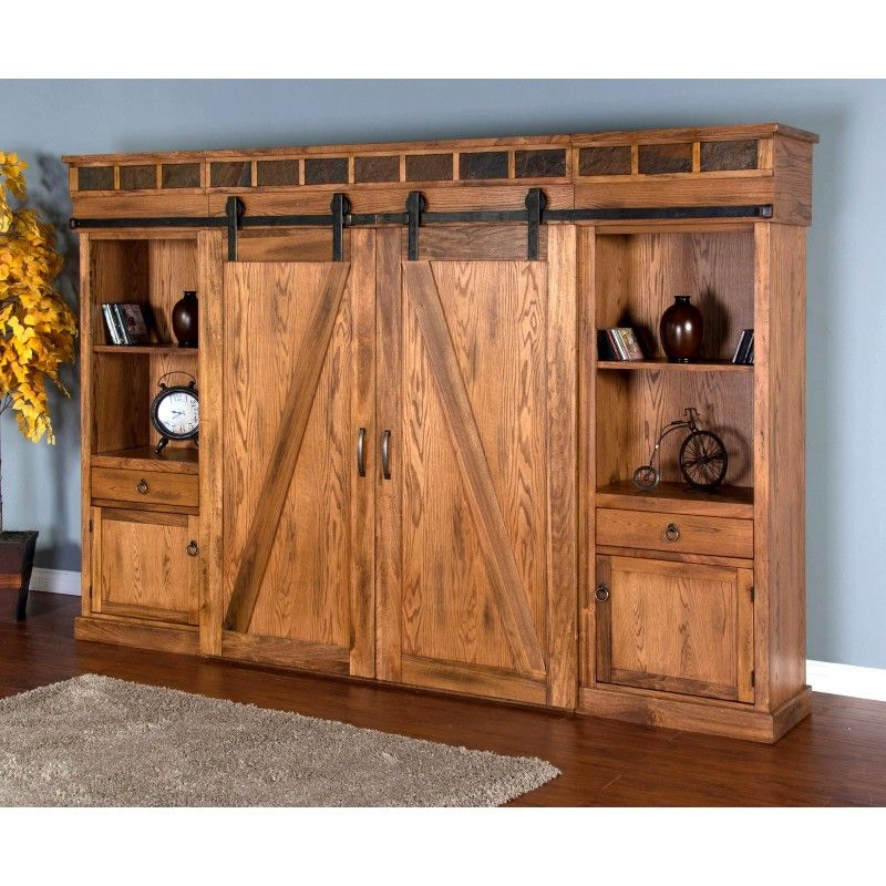 Delicieux Sunny Designs Sedona Barn Door Entertainment Wall 3574RO