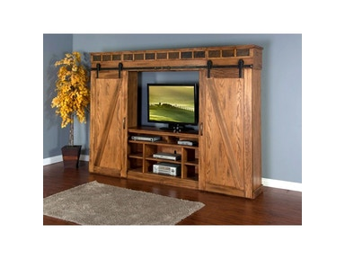 Sedona Barn Door Entertainment Wall