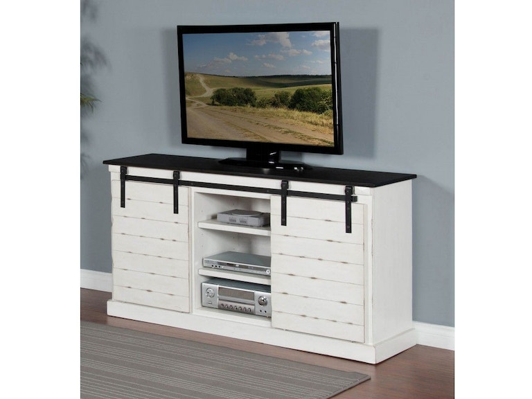 Sunny Designs French Country Barn Door Tv Console 3577fc