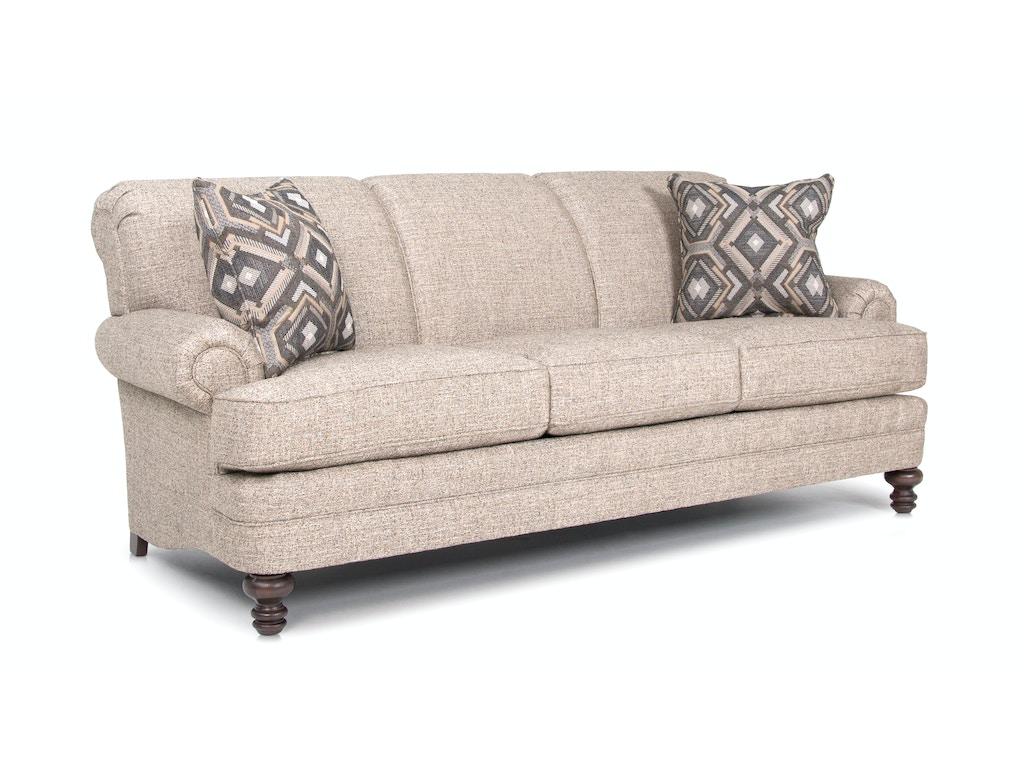 Smith Brothers Living Room Three Cushion Sofa 346 10