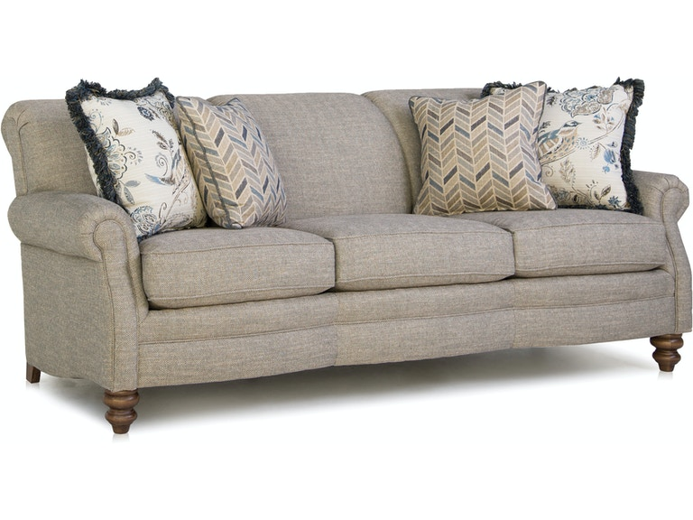 Smith Brothers Living Room Three Cushion Sofa 383 10 Cherry House Furniture La Grange And Louisville Ky