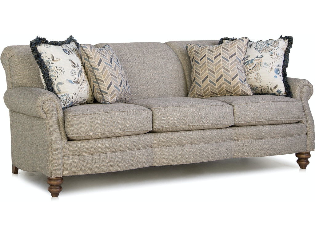 Smith Brothers Living Room Three Cushion Sofa 383 10