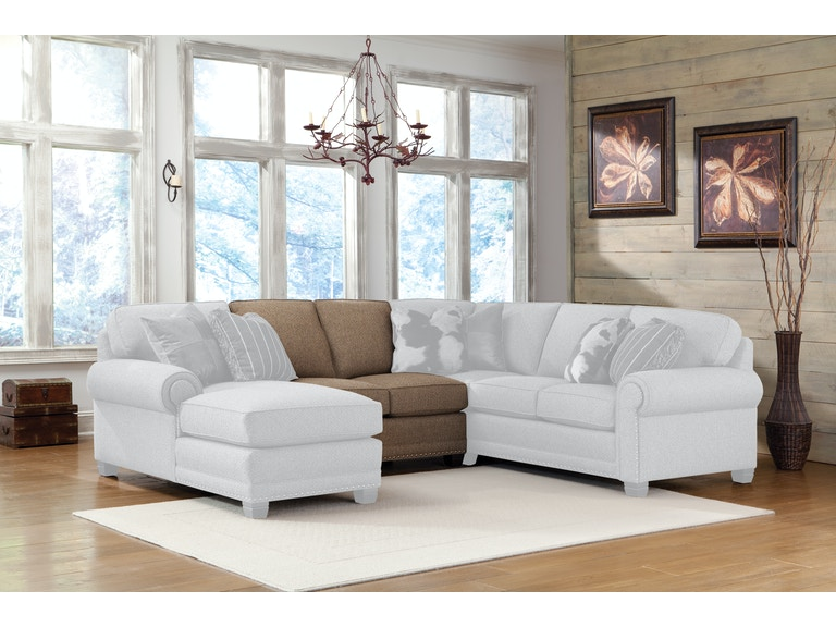 Smith Brothers Living Room Armless Loveseat 393 26 Stacy Furniture