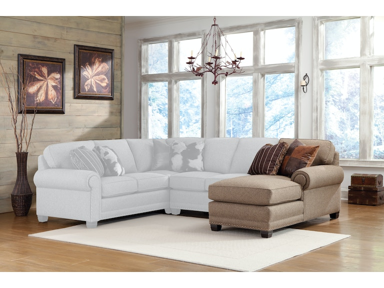 Smith Brothers Living Room Right Arm Facing Chaise 393 45 Habegger Furniture Inc Berne And Fort Wayne In