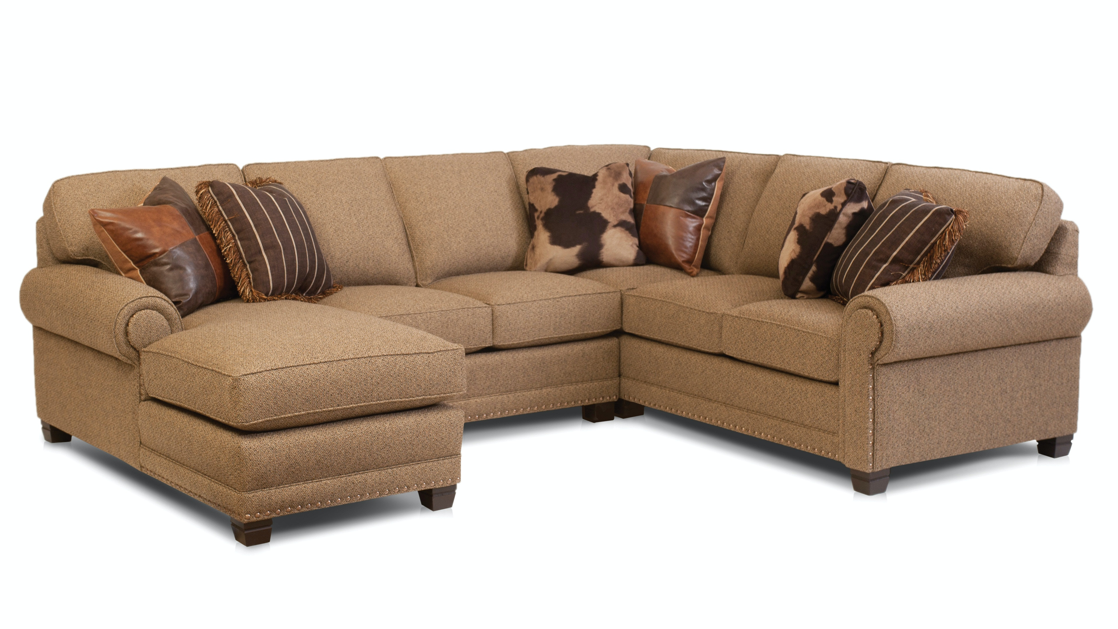 Smith Brothers Living Room 393-Sectional - Art Sample Furniture ...