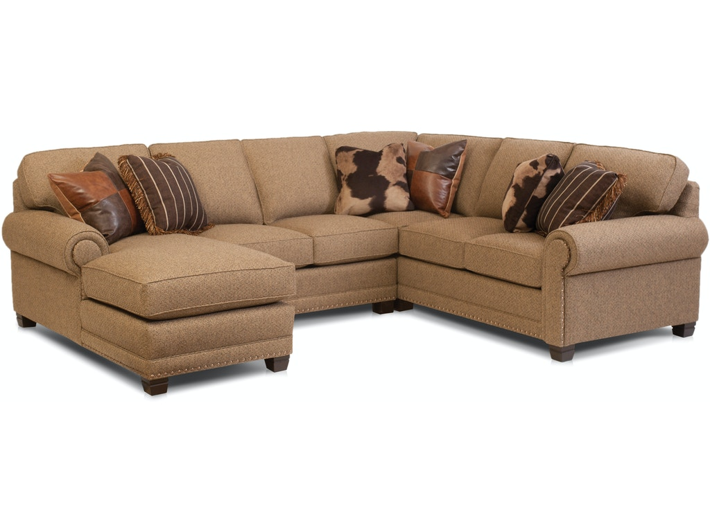 Smith Brothers Living Room 393 Sectional Habegger